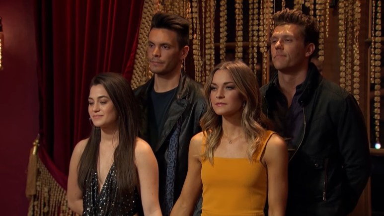 Four contestants on The Bachelor Presents: Listen to Your Heart await to hear their fate