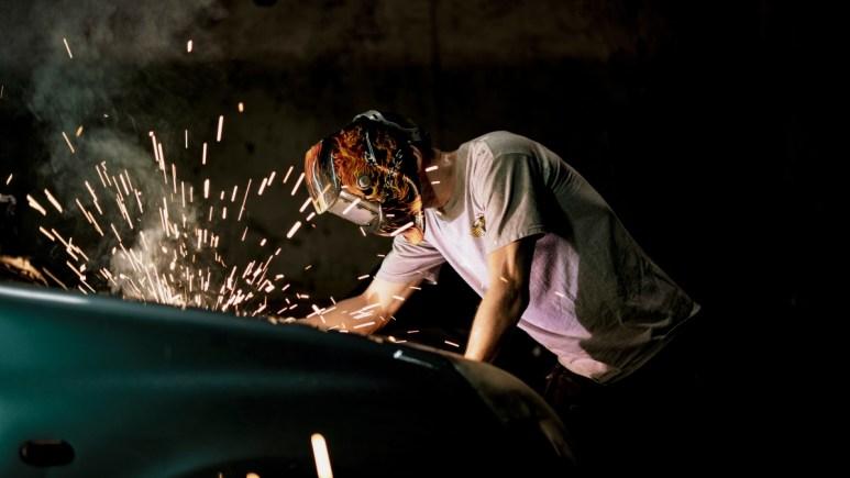 Alban Lenoir as Lino welding vehicle