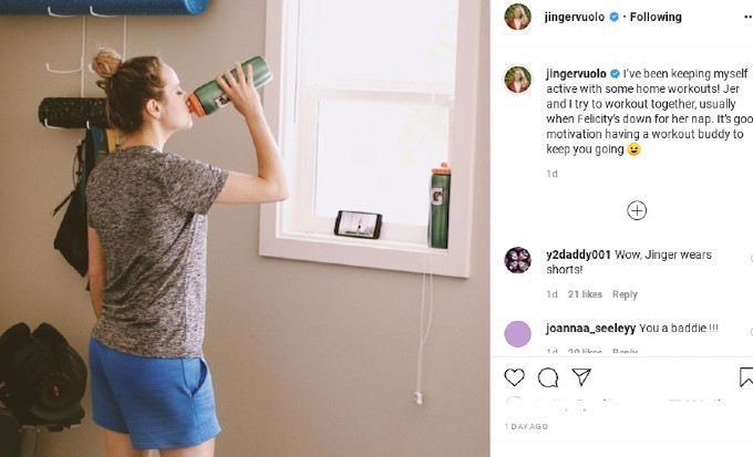 Jinger Dugar's Instagram photo.