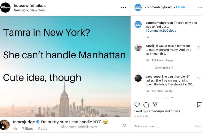 Tamra Judge thinks she would be fine in Manhattan.