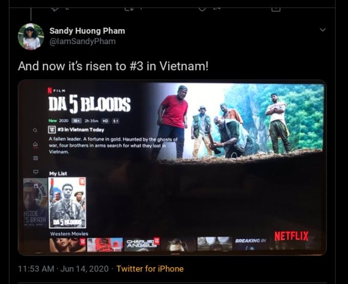 Tweet by Sandy Huong Pham