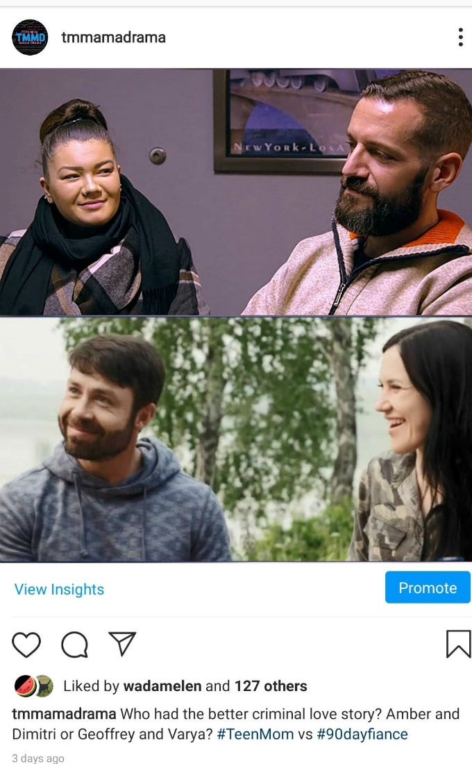Blog comparing Amber and boyfriend to 90 Day Fiance stars.