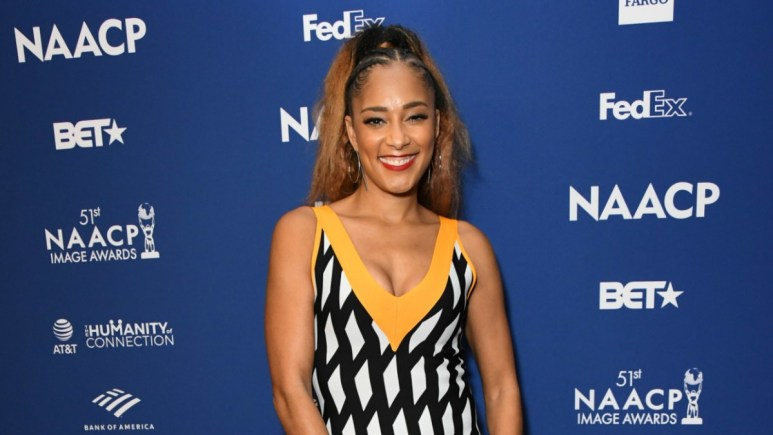 Amanda Seales on the red carpet