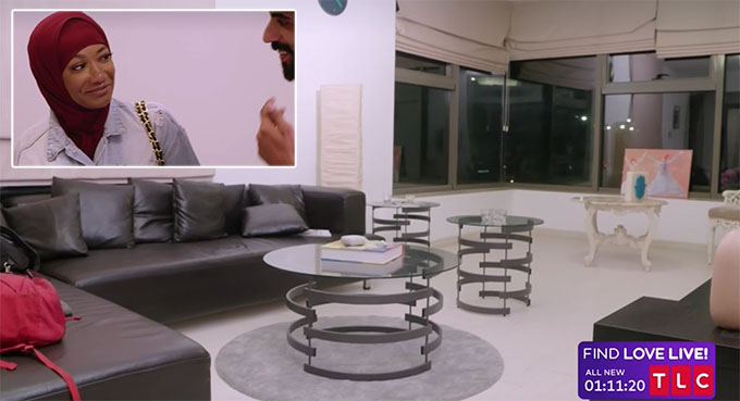 90 day fiance Brittany and Yazan in a nice apartment