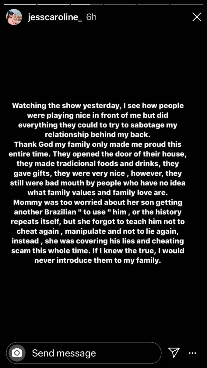 Jess speaks out