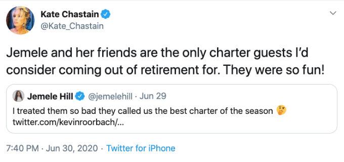 Kate Chastain is a fan of charter guest Jemele Hill.