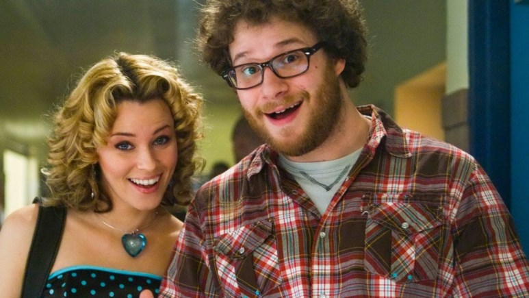Seth Rogen and Elisabeth Banks from Zack and Miri Make a Porno.