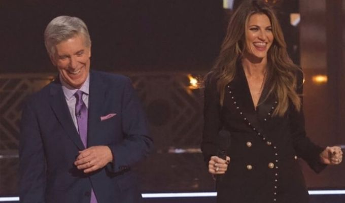 Tom Bergeron and Erin Andrews on dancing with the stars