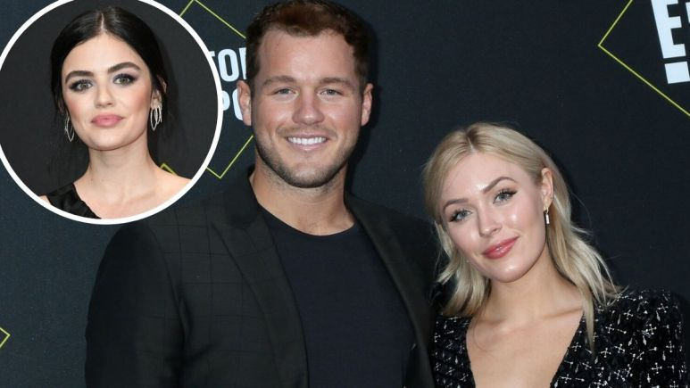 Colton Underwood, Cassie Randolph and Lucy Hale