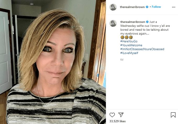 Meri brown with makeup