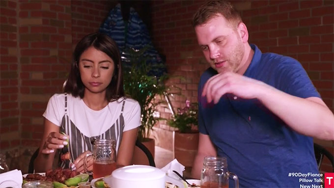 90 day fiance other way tim and melyza eating