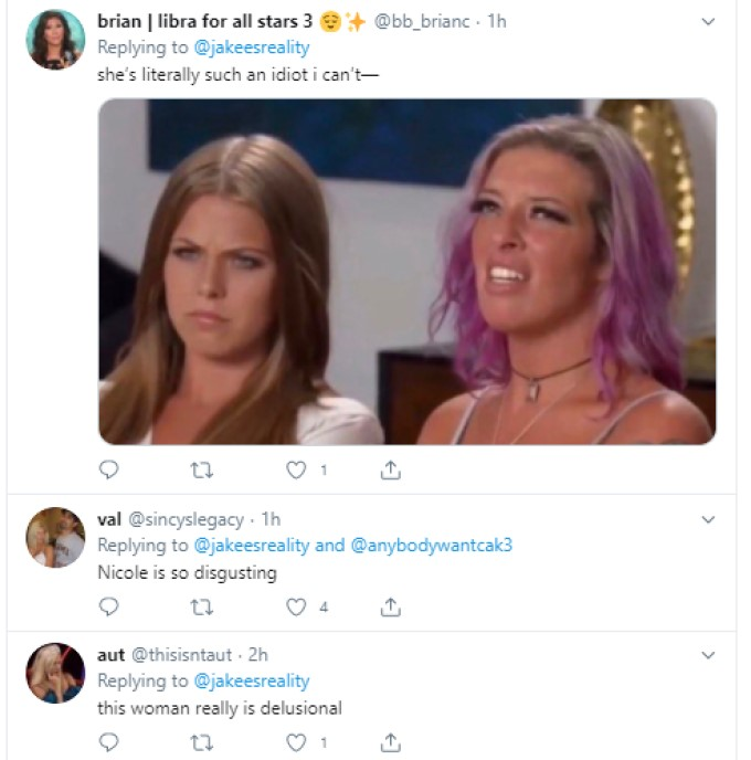 Fan Opinions Of Nicole On BB22