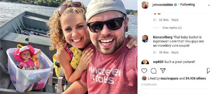 John-David and Abbie's Instagram comments.