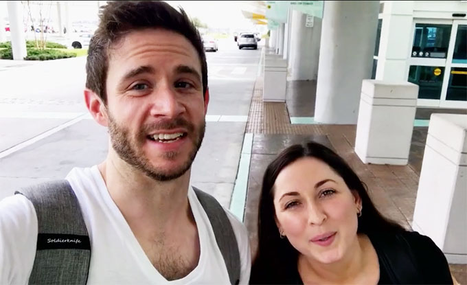 Married at First sight couple Olivia and Brett taking a selfie
