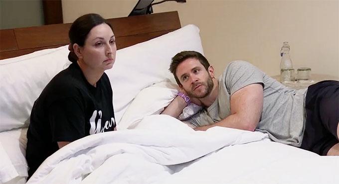 MAFS couple Olivia and Brett fighting