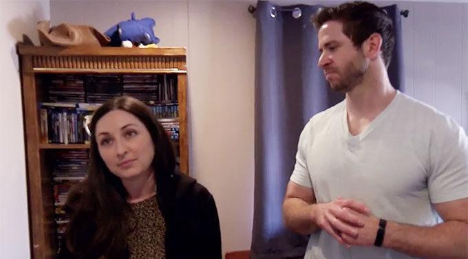 MAFS season 11 couple Brett and Olivia touring Brett's house