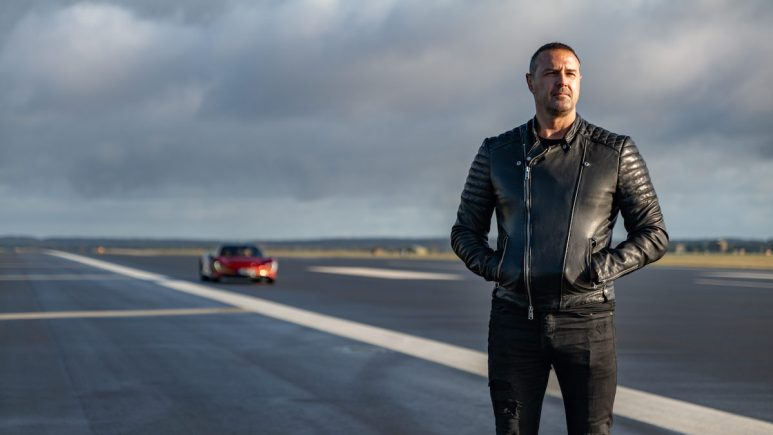 Top Gear host Paddy McGuinness and the McLaren Speedtail