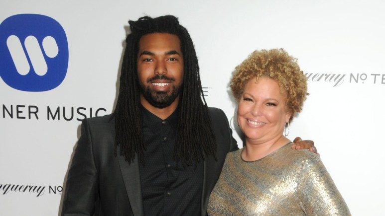 Quinn Coleman and Debra Lee on the red carpet