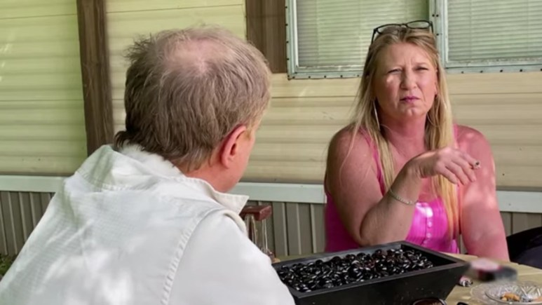 Angela talking to Tommy on Life After Lockup.