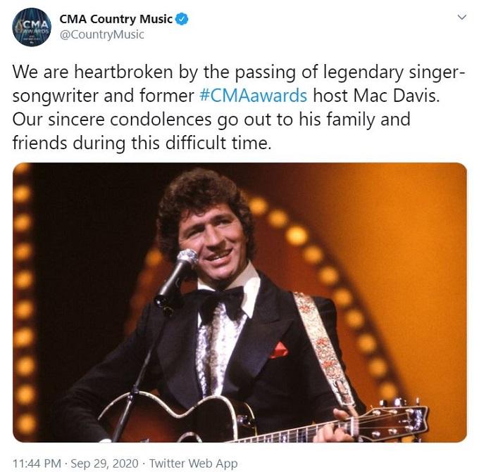 CMA Country Music on Mac Davis