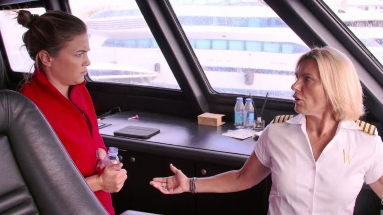 Below Deck Med's Captain Sandy claims her video calling Malia gay was spliced together.