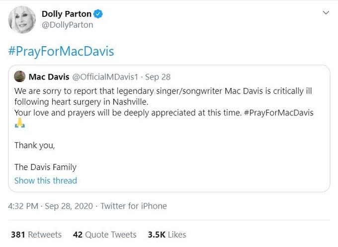 Dolly Parton and Mac Davis