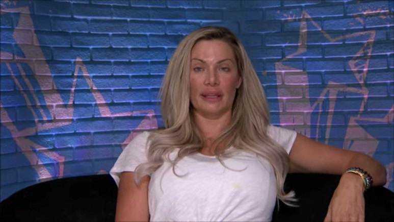 Janelle during a Big Brother diary room in Season 22.