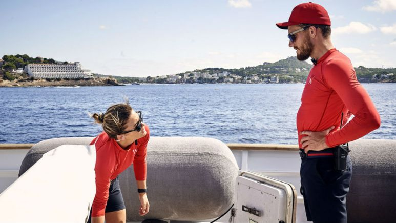 Malia White and Rob Westergaard admit he caused a near docking disaster on Below Deck Med.