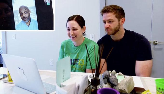 MAFS Season 11 couple Olivia and Brett talking to Pastor Cal