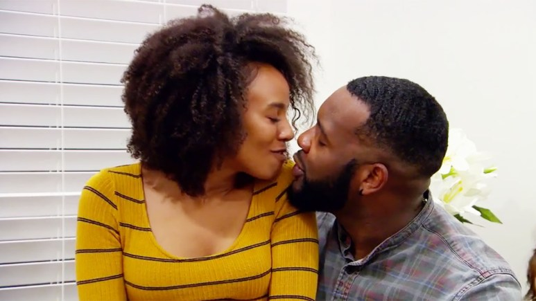 MAFS Season 11 couple Miles and Karen on the verge of a kiss