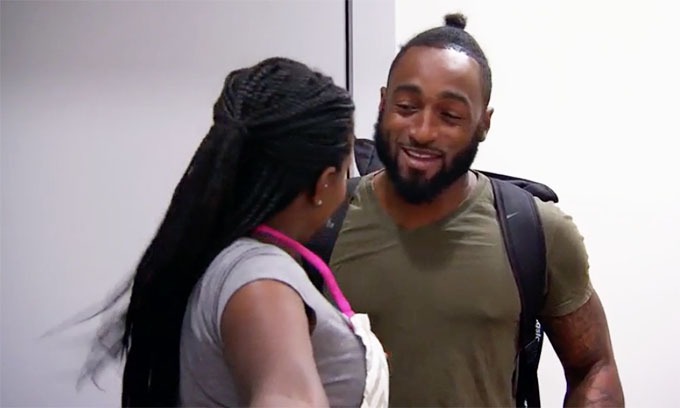 MAFS Season 11 couple Amani surprising Woody at door with dinner