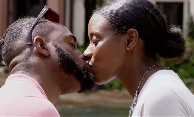 MAFSN Season 11 couple Woody and Amani kissing in park