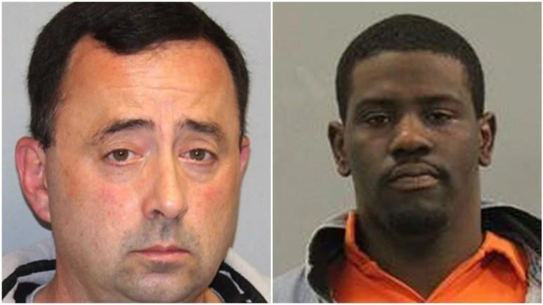 Mugshots of Larry Nassar and Brian Earl Taylor