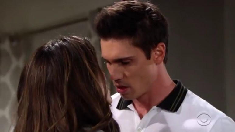 Steffy and Finn kissing on The Bold and the Beautiful.