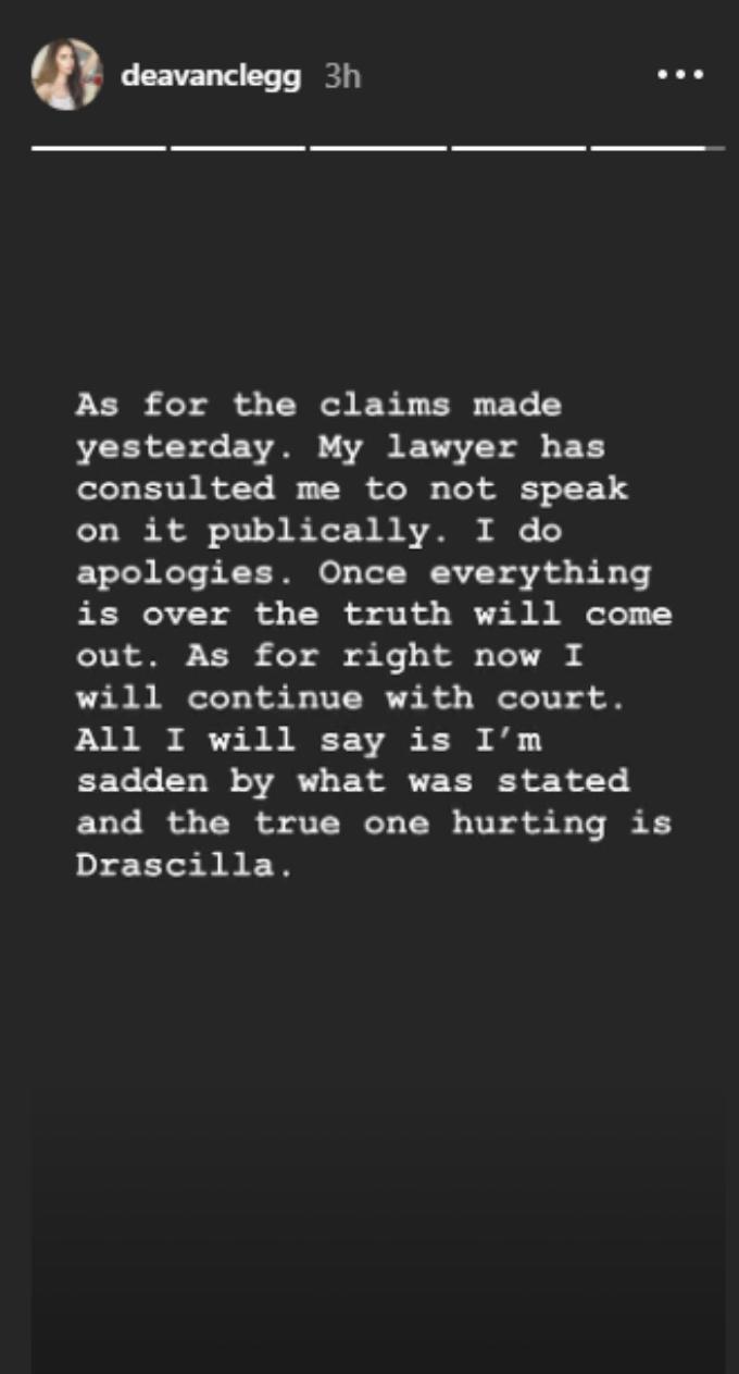 Deavan Clegg Instagram stories
