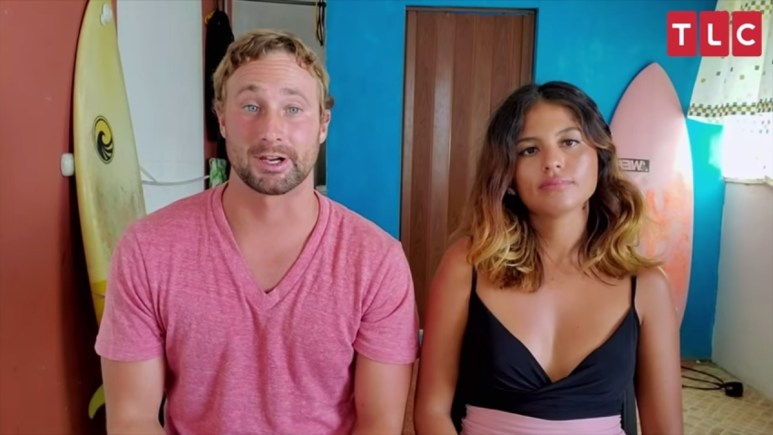 Corey and Evelin's self-taped footage from Self Quarantined. Pic credit: TLC