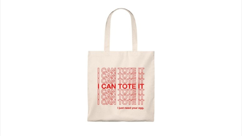 """The """"I can tote it"""" tote. Pic credit: RealiTeaSupplyCo / Etsy"""
