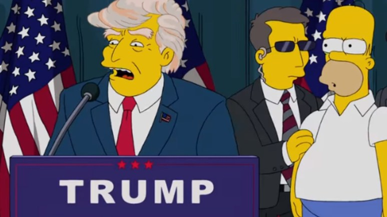 Animation Domination on Fox image of Trump and Homer Simpson