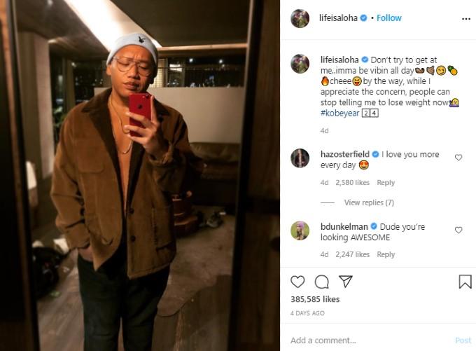 Jacob Batalon posts selfie of his new look