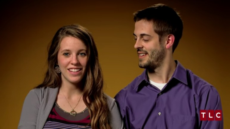 Jill and Derick in a 19 Kids and Counting confessional.