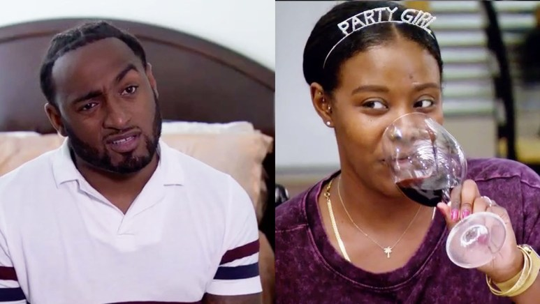 MAFS Season 11 Amani and Woody looking confused and amused by Christina's drama