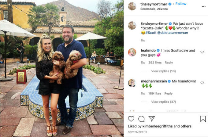 Tinsley, Scott and their dogs Instagram