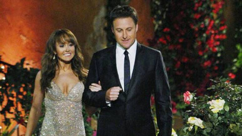 Ashley Hebert walks hand-in-hand with Chris Harrison