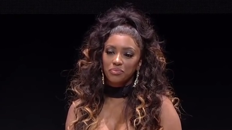 rhoa star porsha williams on stage