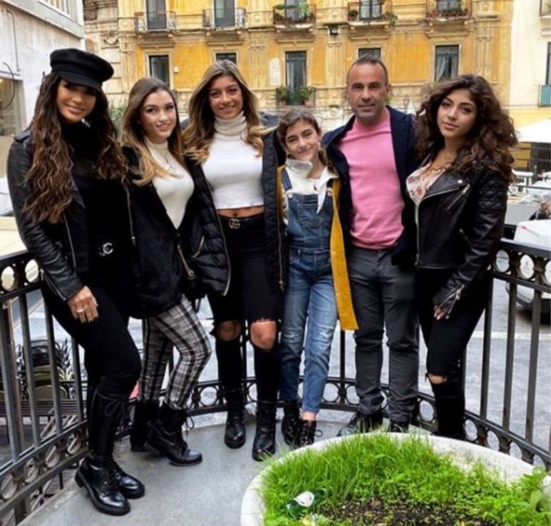 Teresa and Joe Giudice with their four daughters.