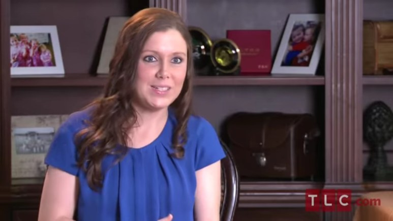 Anna Duggar in a 19 Kids and Counting contessional.