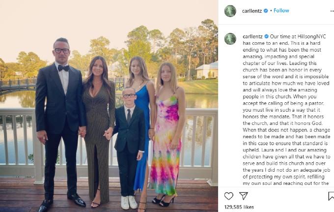 Carl Lentz's Instagram confession