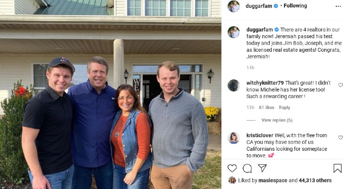Jeremiah Duggar and his parents and brother, Joseph.