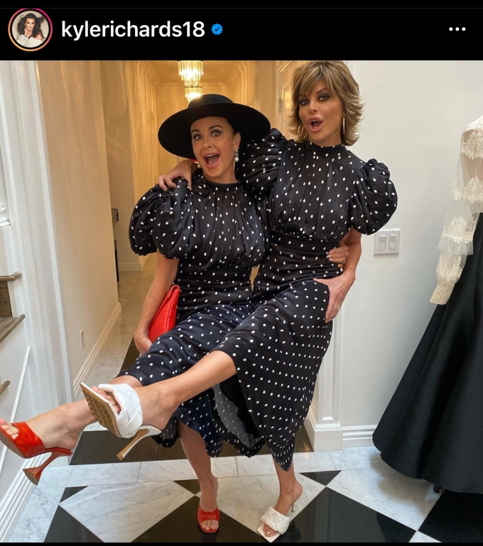 RHOBH costars Lisa Rinna and Kyle Richards don matching outfits