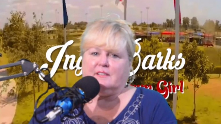 Inga Barks performs on radio